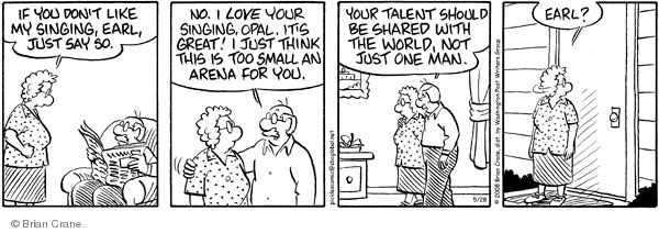 Comic Strip Brian Crane  Pickles 2008-05-28 talented