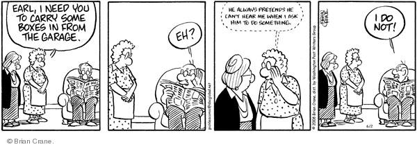 Comic Strip Brian Crane  Pickles 2008-06-02 husband