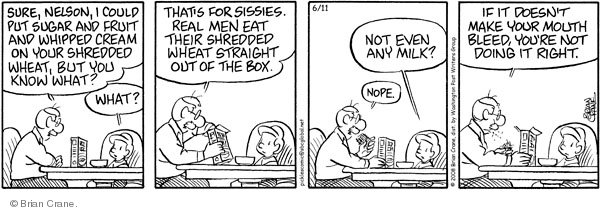 Comic Strip Brian Crane  Pickles 2008-06-11 breakfast food