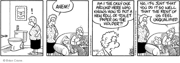 Comic Strip Brian Crane  Pickles 2008-06-12 husband