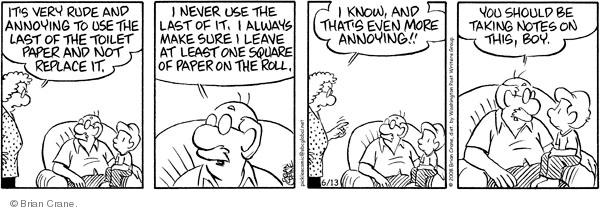 Comic Strip Brian Crane  Pickles 2008-06-13 husband