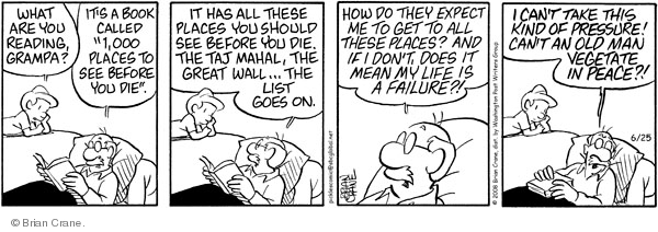 Comic Strip Brian Crane  Pickles 2008-06-25 retirement age