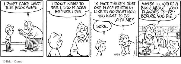 Comic Strip Brian Crane  Pickles 2008-06-26 flavor
