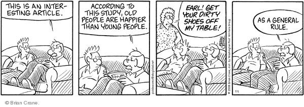 Comic Strip Brian Crane  Pickles 2008-07-01 husband