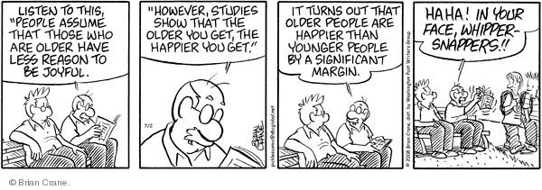 Comic Strip Brian Crane  Pickles 2008-07-02 get old
