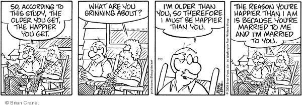 Comic Strip Brian Crane  Pickles 2008-07-03 get old