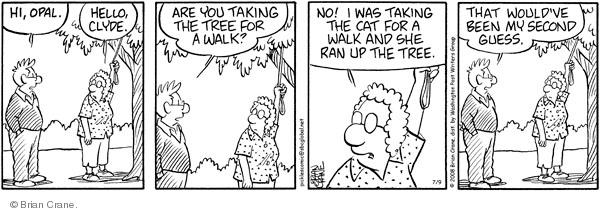 Comic Strip Brian Crane  Pickles 2008-07-09 bad behavior