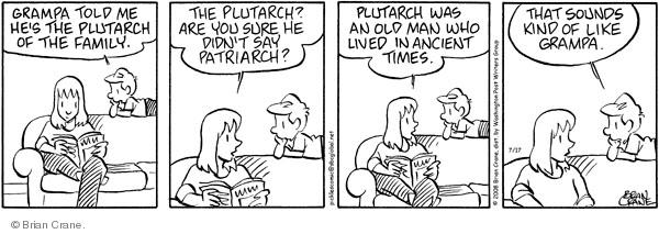 Comic Strip Brian Crane  Pickles 2008-07-17 get old