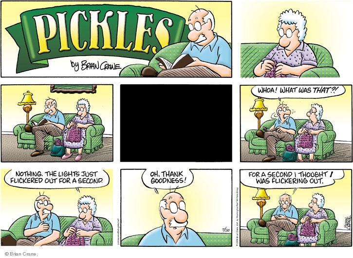 Comic Strip Brian Crane  Pickles 2008-07-20 thank goodness