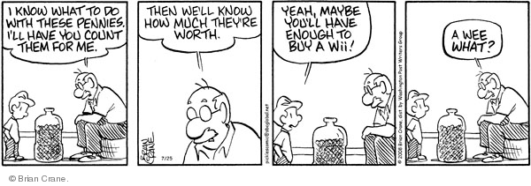 Comic Strip Brian Crane  Pickles 2008-07-25 tiny