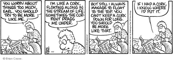 Comic Strip Brian Crane  Pickles 2008-08-02 anxiety