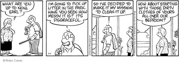 Comic Strip Brian Crane  Pickles 2008-08-04 environment