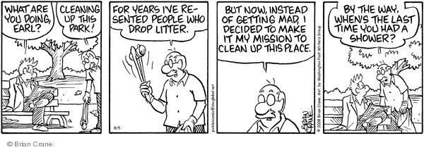 Comic Strip Brian Crane  Pickles 2008-08-05 environment