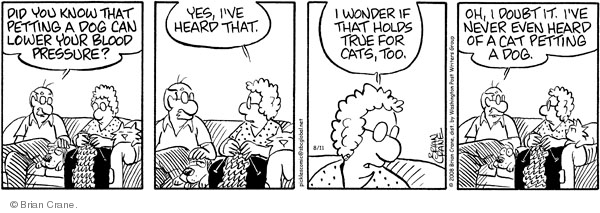 Comic Strip Brian Crane  Pickles 2008-08-11 measurement
