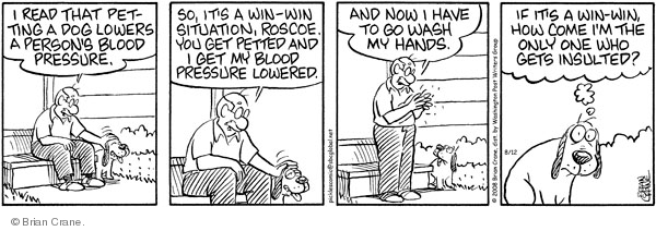 Comic Strip Brian Crane  Pickles 2008-08-12 measurement