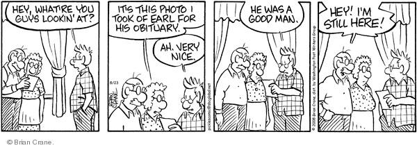 Comic Strip Brian Crane  Pickles 2008-08-23 good guy