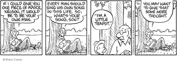 Comic Strip Brian Crane  Pickles 2008-08-29 advice