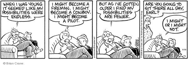 Comic Strip Brian Crane  Pickles 2008-08-30 age