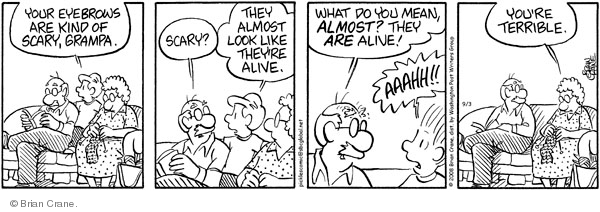 Comic Strip Brian Crane  Pickles 2008-09-03 scary