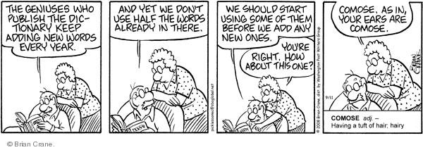 Comic Strip Brian Crane  Pickles 2008-09-11 vocabulary
