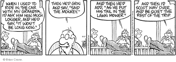 Comic Strip Brian Crane  Pickles 2008-09-17 long memory