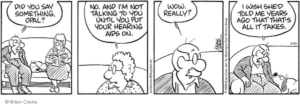 Comic Strip Brian Crane  Pickles 2008-09-20 husband