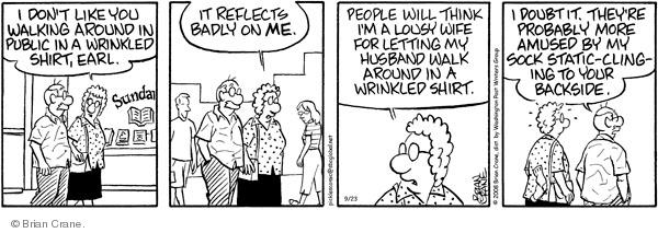 Comic Strip Brian Crane  Pickles 2008-09-23 reflect