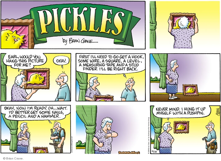 Comic Strip Brian Crane  Pickles 2008-09-28 first husband