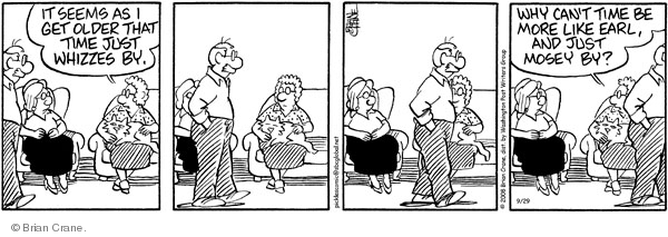 Comic Strip Brian Crane  Pickles 2011-10-31 passage of time