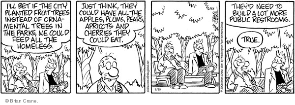 Comic Strip Brian Crane  Pickles 2011-11-01 instead