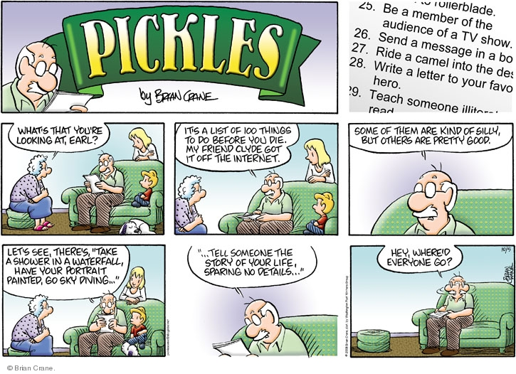 Comic Strip Brian Crane  Pickles 2008-10-05 women's history