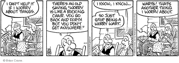 Comic Strip Brian Crane  Pickles 2008-10-09 husband