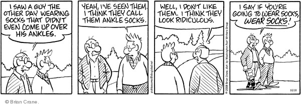Comic Strip Brian Crane  Pickles 2008-10-18 young man