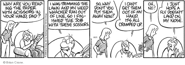 Comic Strip Brian Crane  Pickles 2008-10-23 trim