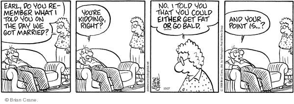 Comic Strip Brian Crane  Pickles 2008-10-27 memory