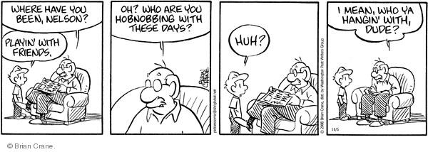 Comic Strip Brian Crane  Pickles 2008-11-06 vernacular