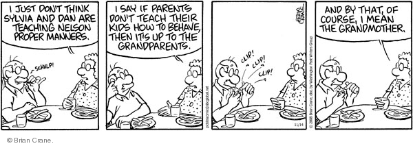 Comic Strip Brian Crane  Pickles 2008-11-14 clip
