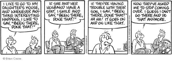 Comic Strip Brian Crane  Pickles 2008-11-17 over
