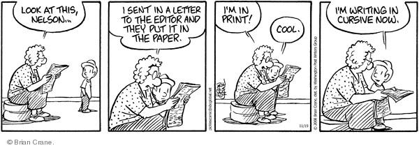 Comic Strip Brian Crane  Pickles 2008-11-19 grandson