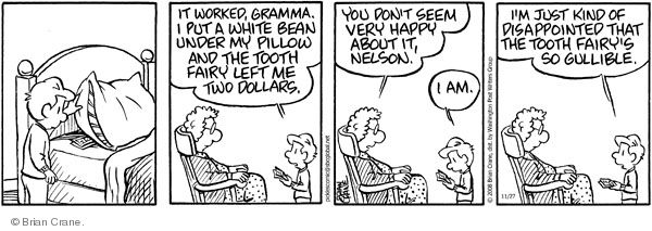 Comic Strip Brian Crane  Pickles 2008-11-27 baby tooth