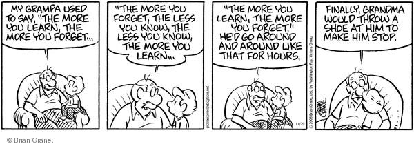 Comic Strip Brian Crane  Pickles 2008-11-29 grandson