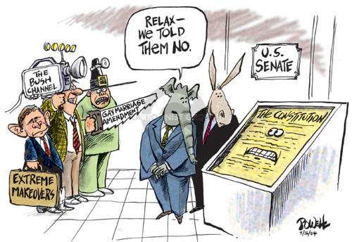 Cartoonist Dwane Powell  Dwane Powell's Editorial Cartoons 2004-07-16 republican senate