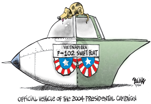 Official Vehicle of the 2004 Presidential Campaign.  Vietnam Era F-102 Swift Boat.