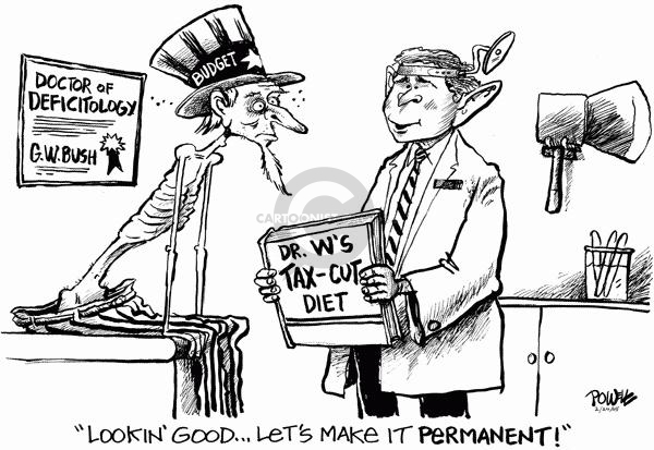 Cartoonist Dwane Powell  Dwane Powell's Editorial Cartoons 2005-02-04 tax