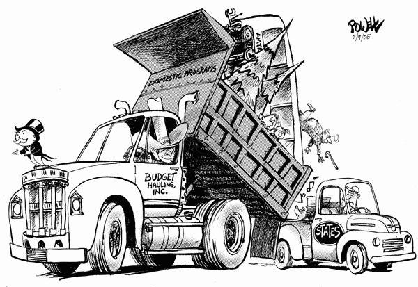 Cartoonist Dwane Powell  Dwane Powell's Editorial Cartoons 2005-02-10 George Bush