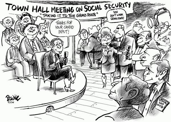 Dwane Powell  Dwane Powell's Editorial Cartoons 2005-02-14 freedom of speech