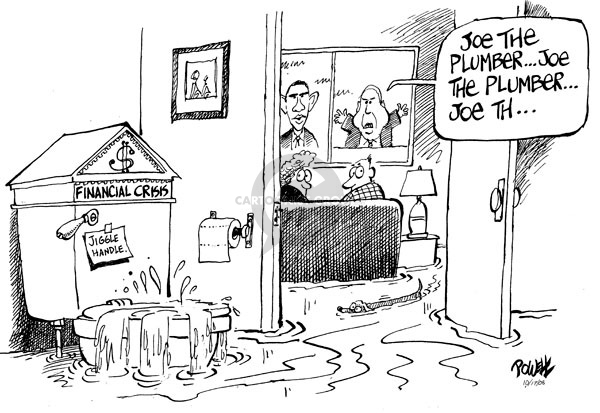Dwane Powell  Dwane Powell's Editorial Cartoons 2008-10-17 stock market