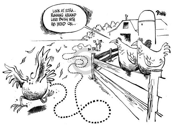 Cartoonist Dwane Powell  Dwane Powell's Editorial Cartoons 2008-10-23 George W. Bush