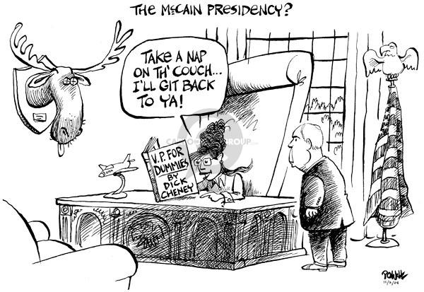 Cartoonist Dwane Powell  Dwane Powell's Editorial Cartoons 2008-11-02 Dick
