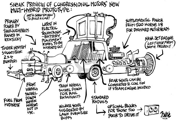 Cartoonist Dwane Powell  Dwane Powell's Editorial Cartoons 2008-12-11 recession